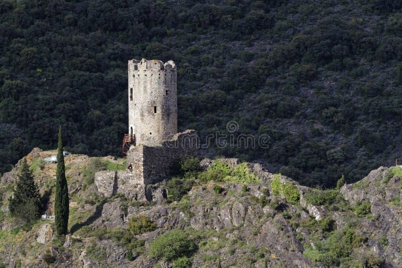 Башня в Lastours стоковое изображение rf