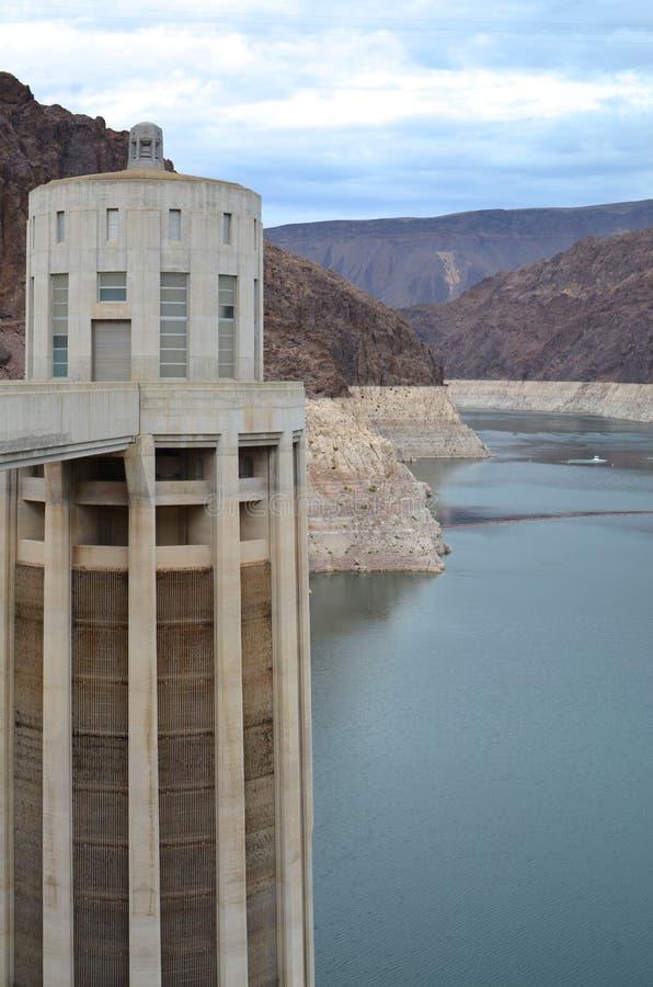 Башня генератора запруды Hoover стоковые фотографии rf