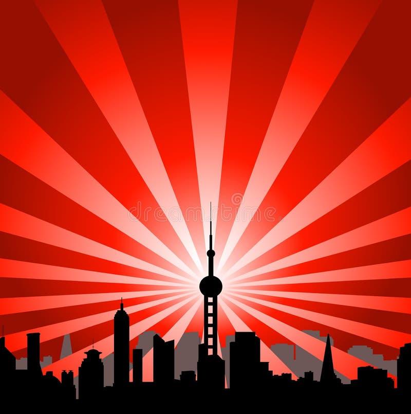башня городского пейзажа иллюстрация вектора