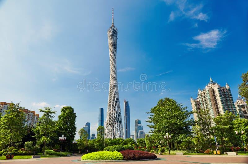 Башня Гуанчжоу Китай кантона стоковые фотографии rf