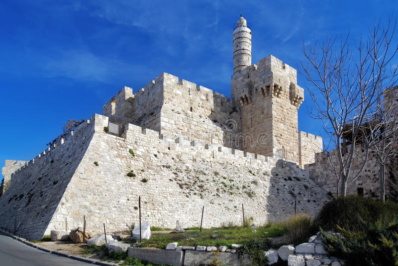 башня Давида Иерусалима цитадели стоковое фото rf