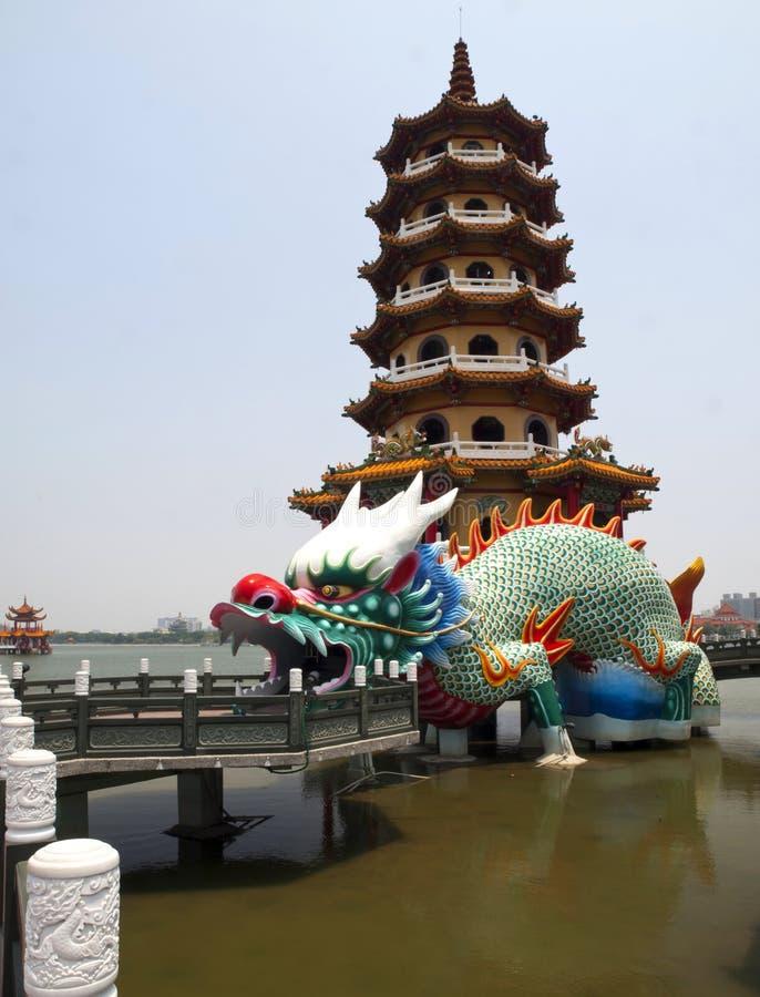 Башня дракона в Тайвань стоковое изображение