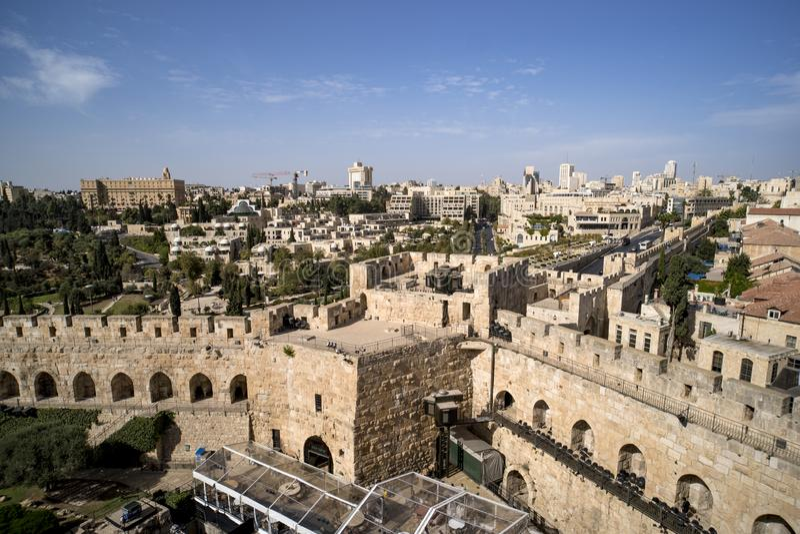 Башня Дэвида поэтому названо потому что византийские христианки верили месту для того чтобы быть дворцом короля Дэвида Настоящая  стоковое изображение rf