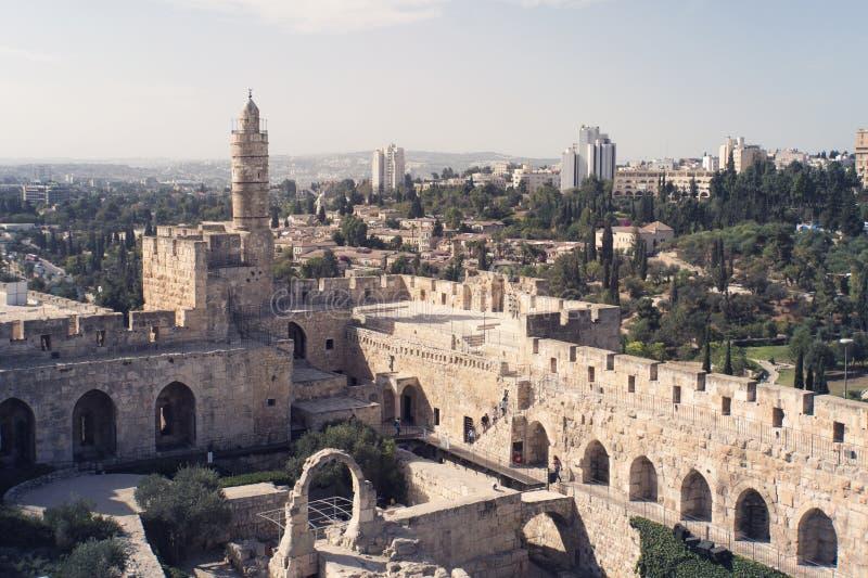 Башня Дэвида поэтому названо потому что византийские христианки верили месту для того чтобы быть дворцом короля Дэвида Настоящая  стоковые фотографии rf