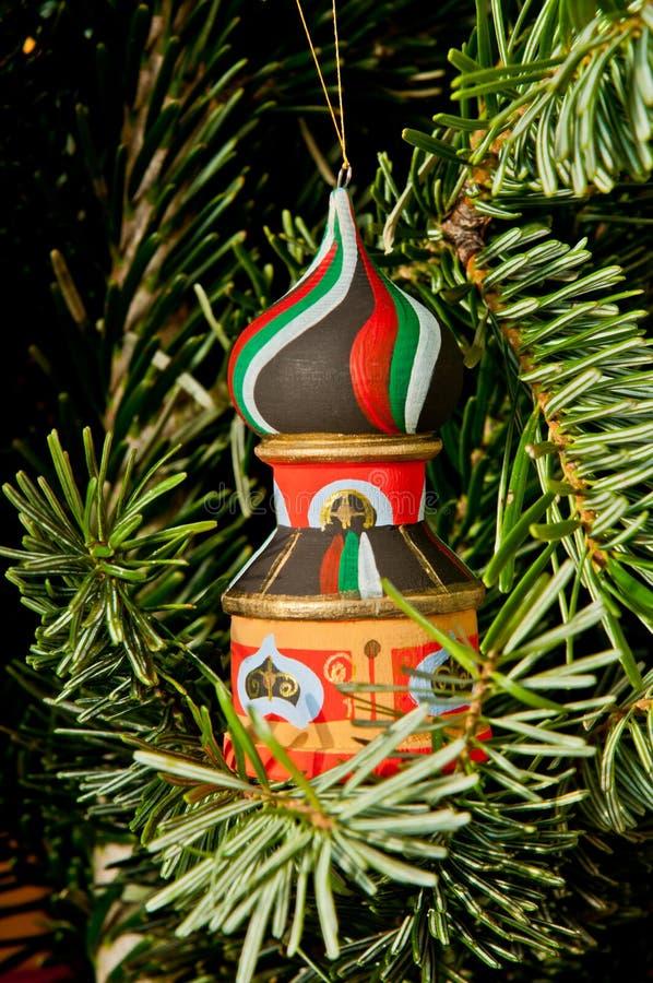 Башня & дерево xmas стоковые фотографии rf
