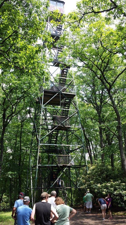 Башня лесного пожара кашевара стоковое фото rf