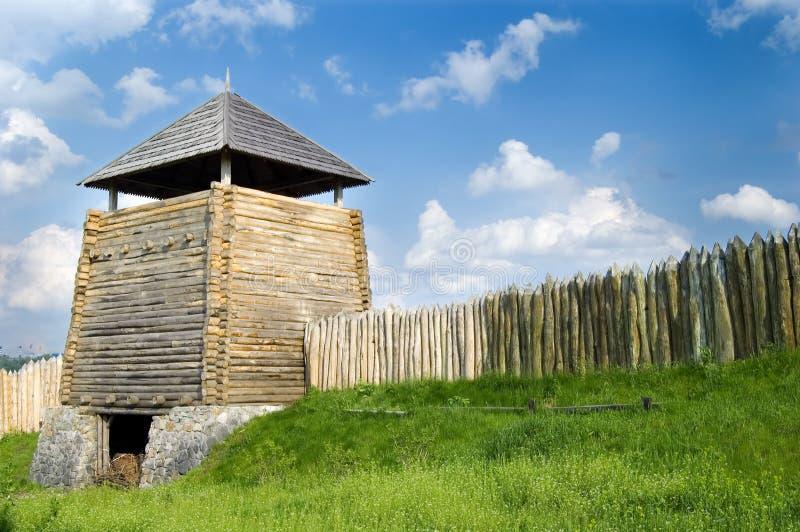 башня загородки деревянная стоковые фото