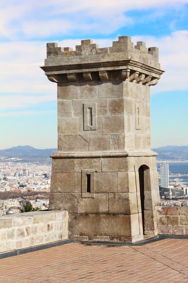 Montjuic, Барселона, Испания стоковая фотография rf