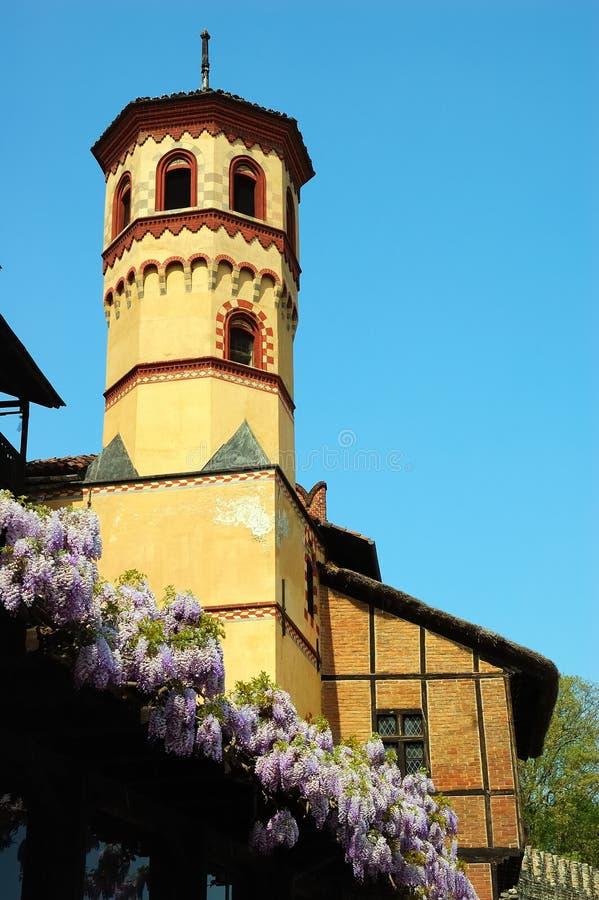 башня замока стоковое изображение