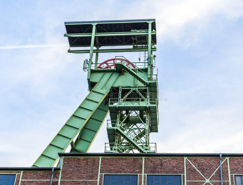 Башня замотки Grube Georg в Willroth стоковая фотография