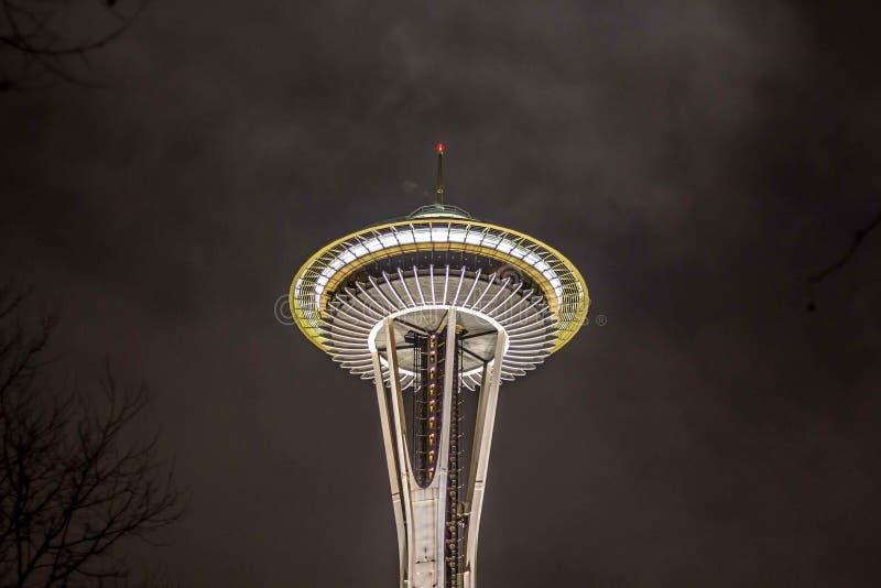 Башня иглы космоса в Сиэтл стоковое изображение rf