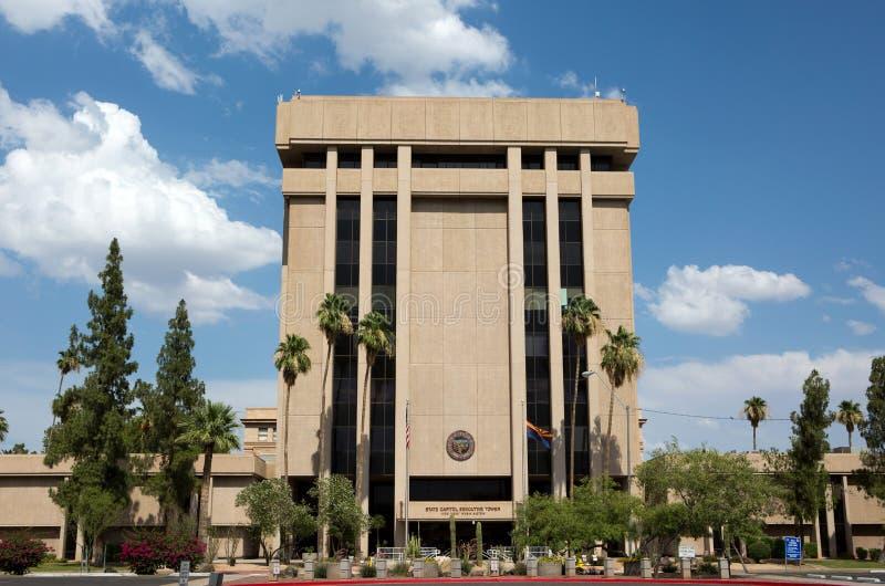 Башня исполнительной власти капитолия положения Аризоны стоковые изображения rf
