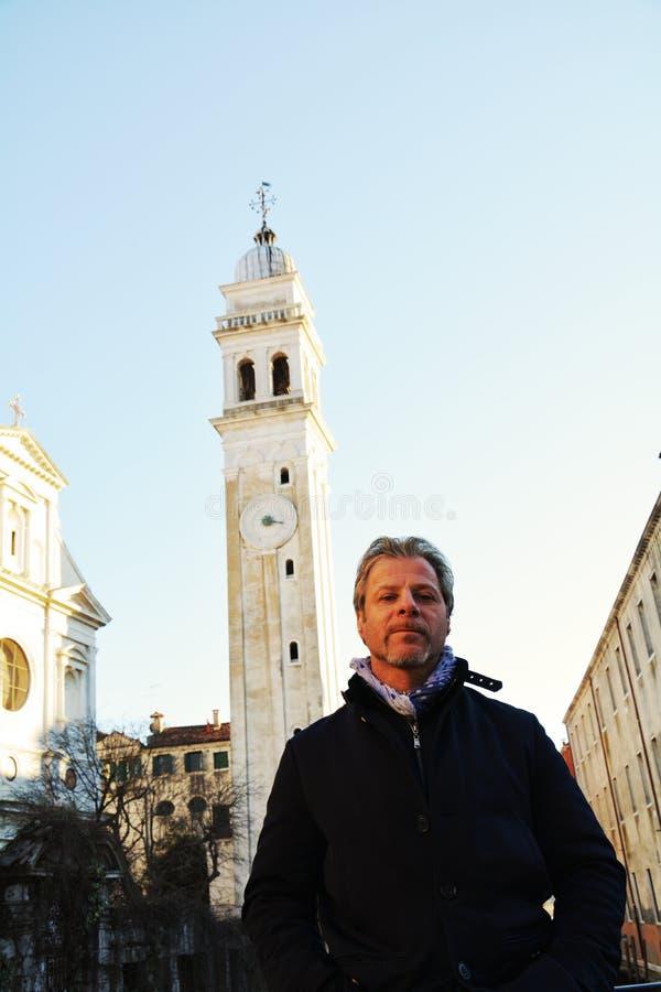 Башня и окрестности квадрата ` s St Mark, Венеции, Италии стоковая фотография rf