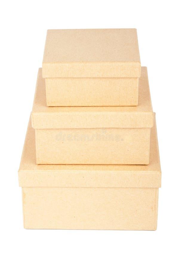 Башня картонной коробки стоковое фото rf