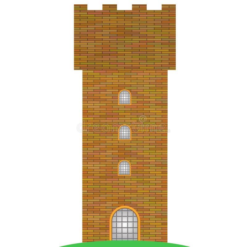 башня кирпича старая иллюстрация вектора