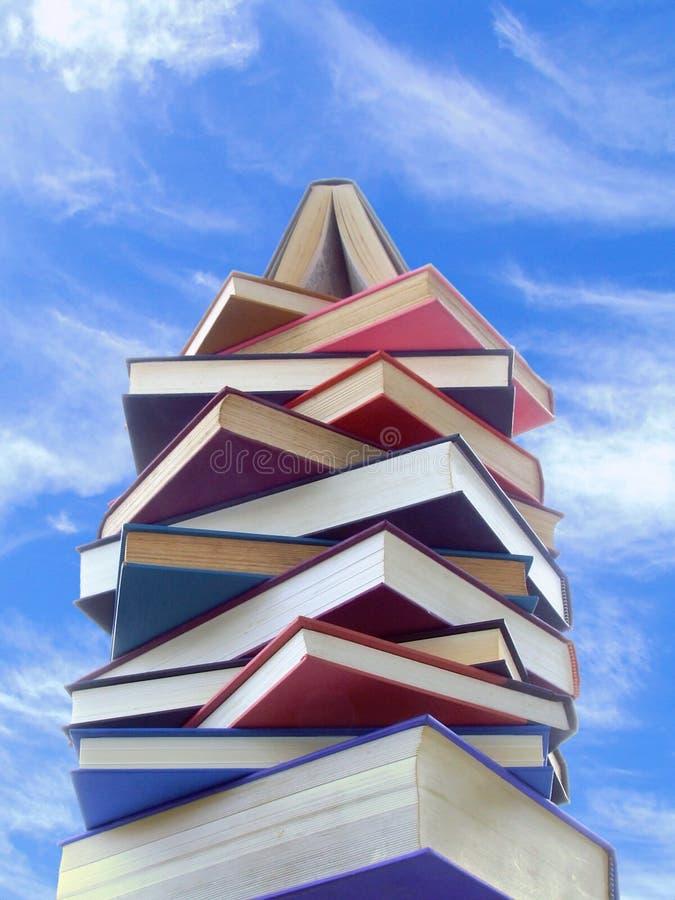 башня книг стоковые изображения rf