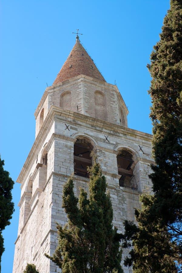 башня колокола aquileia стоковые изображения rf