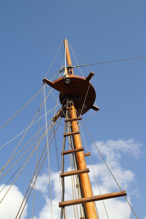 Башня корабля, гнездй ворон стоковое изображение rf