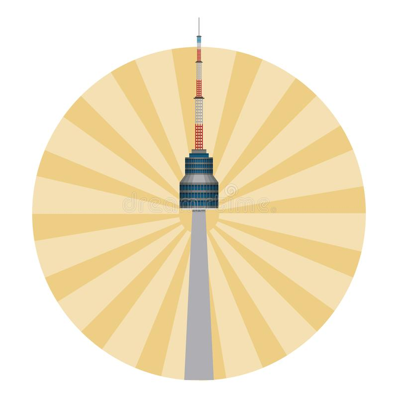 Башня корейца Сеула бесплатная иллюстрация