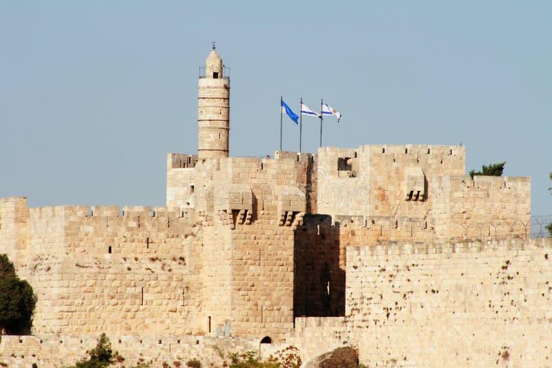 башня короля Давида Израиля Иерусалима стоковое фото