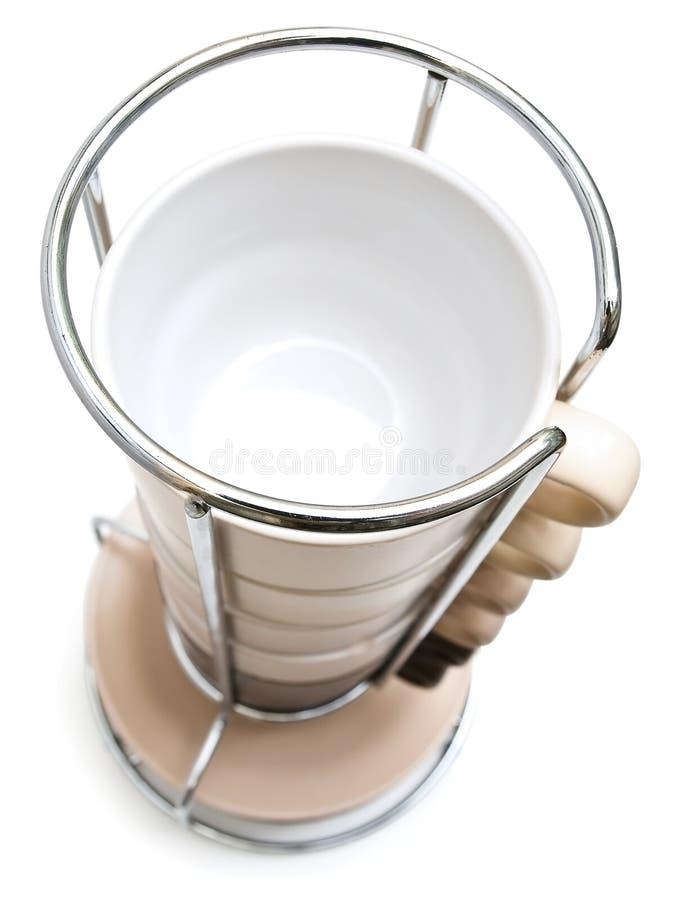 башня кофейных чашек стоковое изображение rf