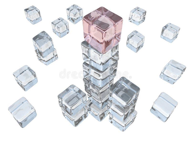 Башня кубика льда стоковые фото