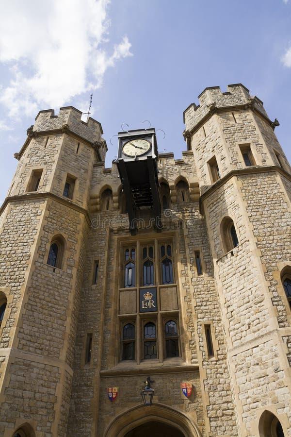 Башня Лондона - части исторических королевских дворцов, дома t стоковые изображения rf