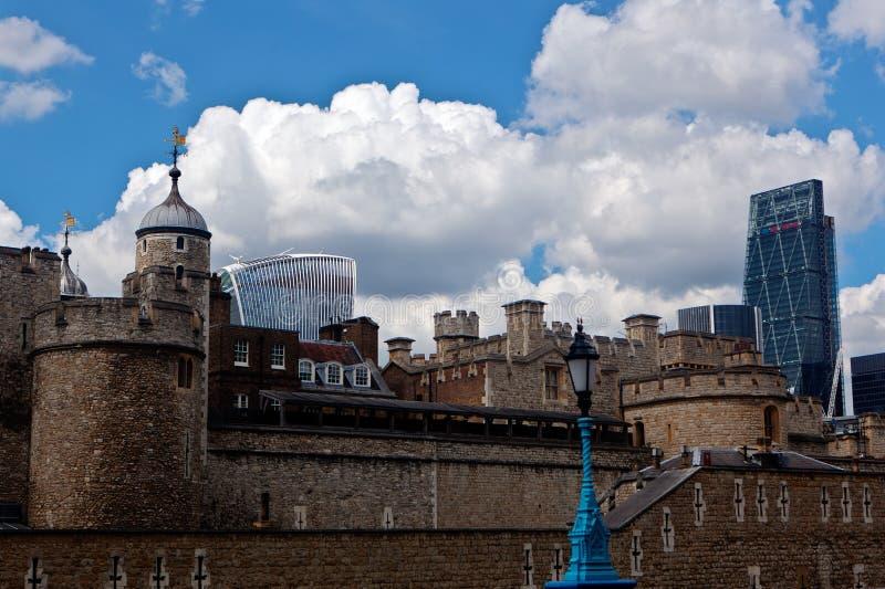 Башня Лондон Англия города стоковое изображение