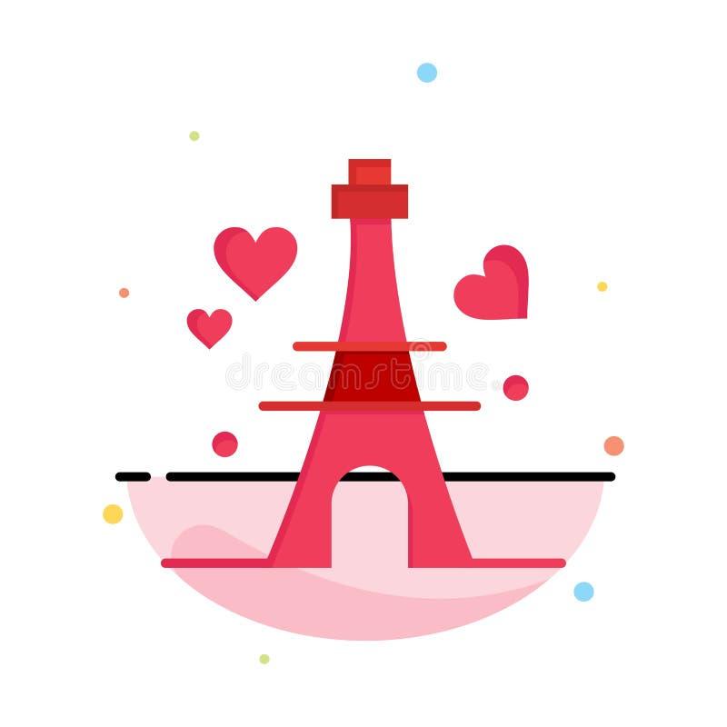 Башня, любовь, сердце, шаблон логотипа дела свадьбы r иллюстрация вектора