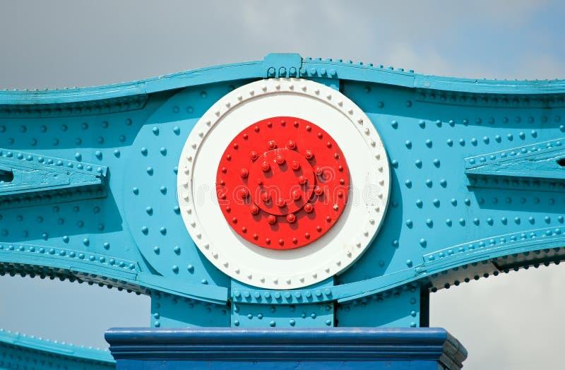 башня металла части конструкции моста стоковые фото