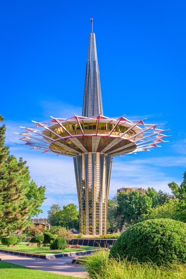 Башня молитве устного университета Roberts стоковые фотографии rf