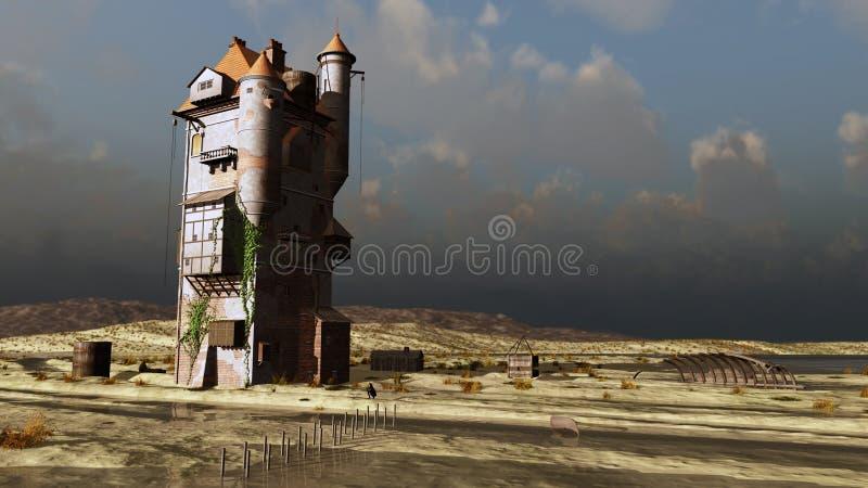 башня моря замока иллюстрация вектора