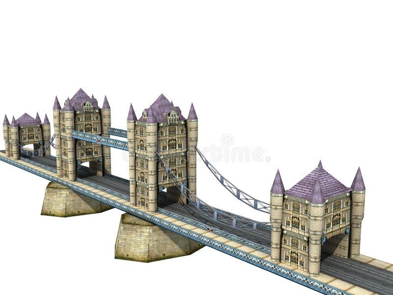 башня моста иллюстрация вектора
