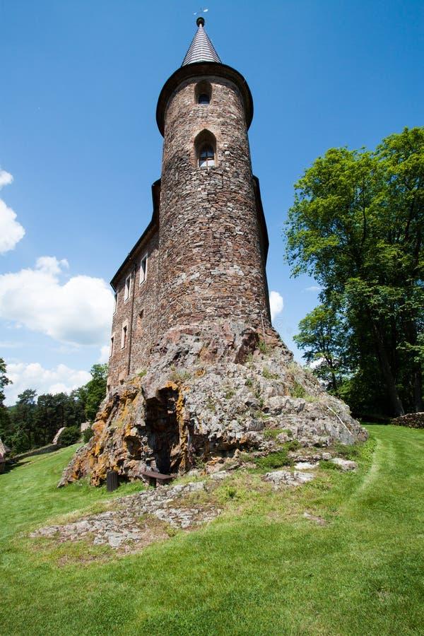 Башня на замке Velhartice стоковое изображение rf