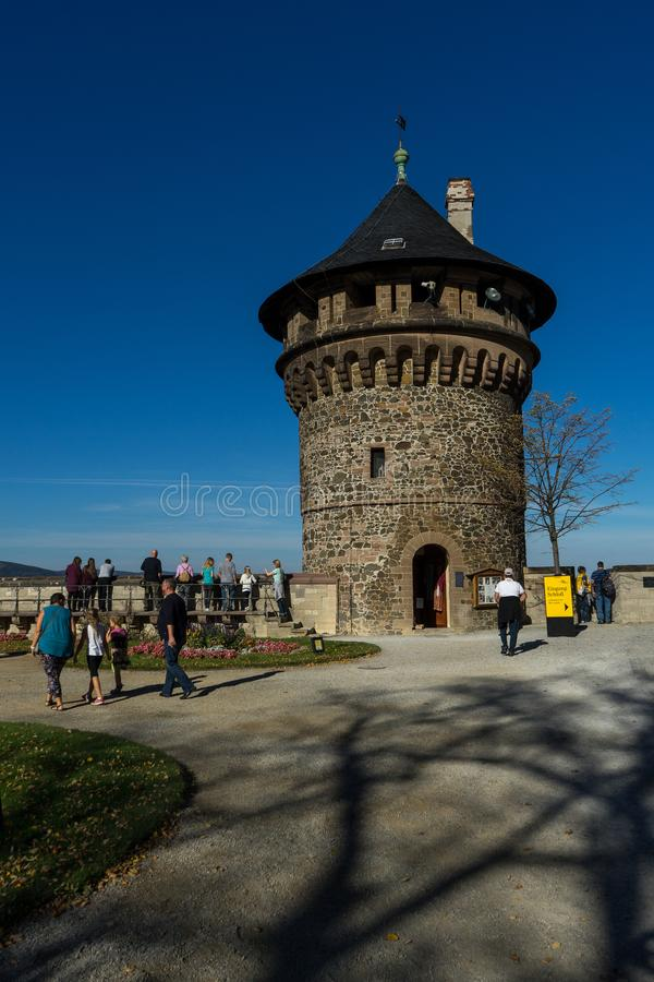 Башня на замке Wernigerode в Германии Harz стоковое изображение rf