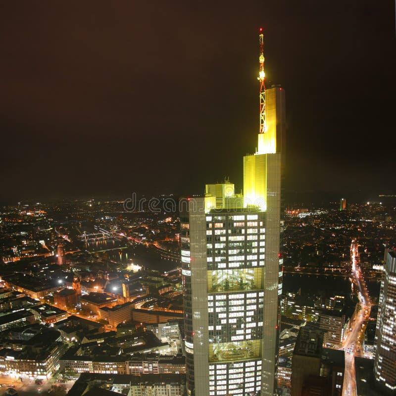 башня немца commerzbank frankfurt города стоковая фотография rf