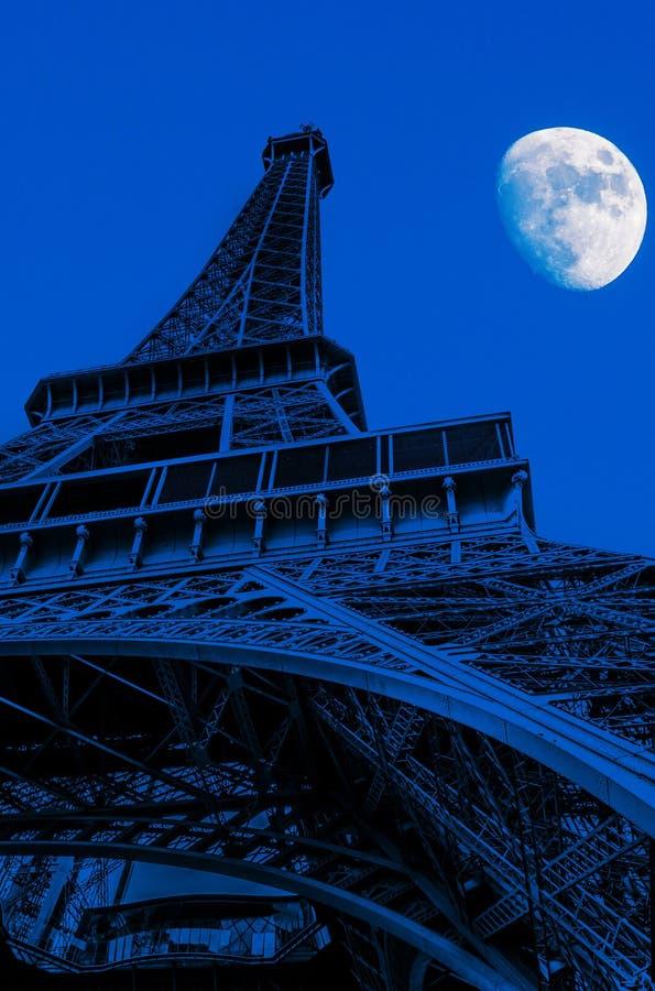 башня ночи eiffel стоковое фото rf