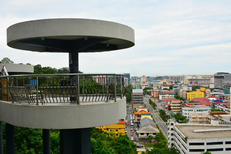 Башня обсерватории холма сигнала в Kota Kinabalu, Малайзии стоковые фото