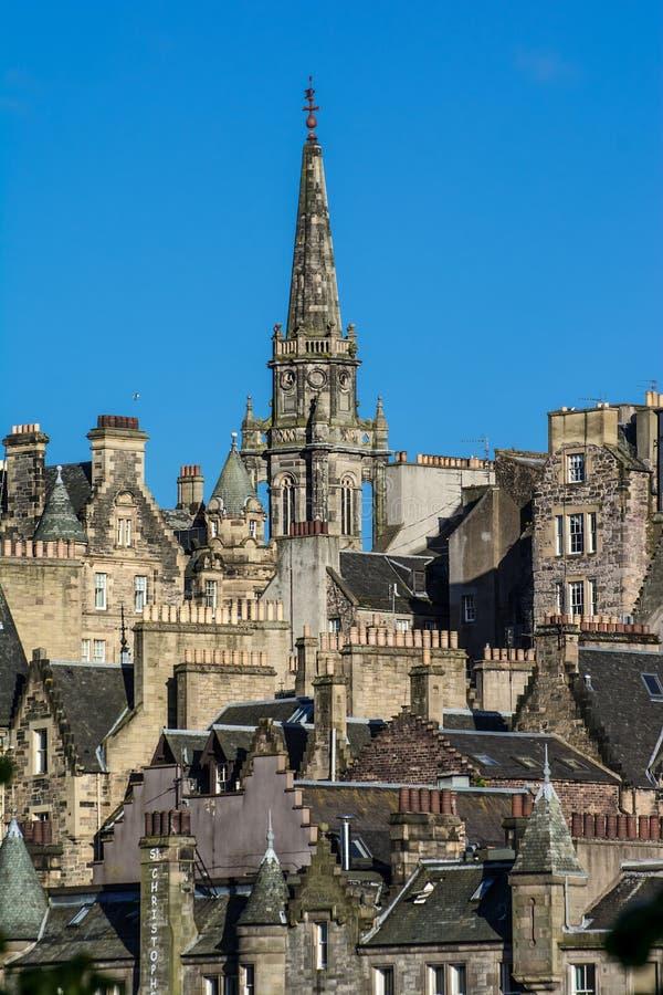 Башня ориентир ориентира Tron Кирка-Эдинбурга стоковая фотография
