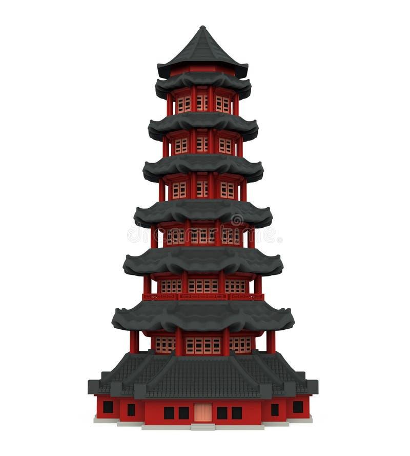 Башня пагоды иллюстрация вектора