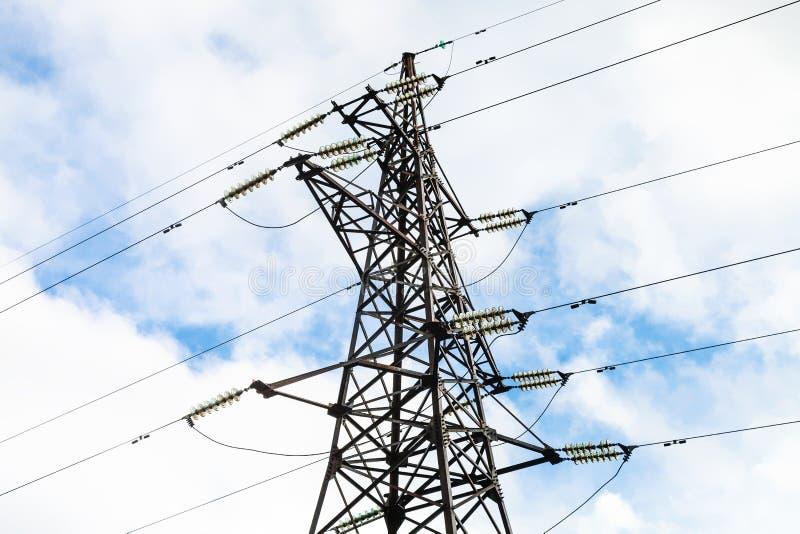Башня передающей линии электричества стоковые фотографии rf