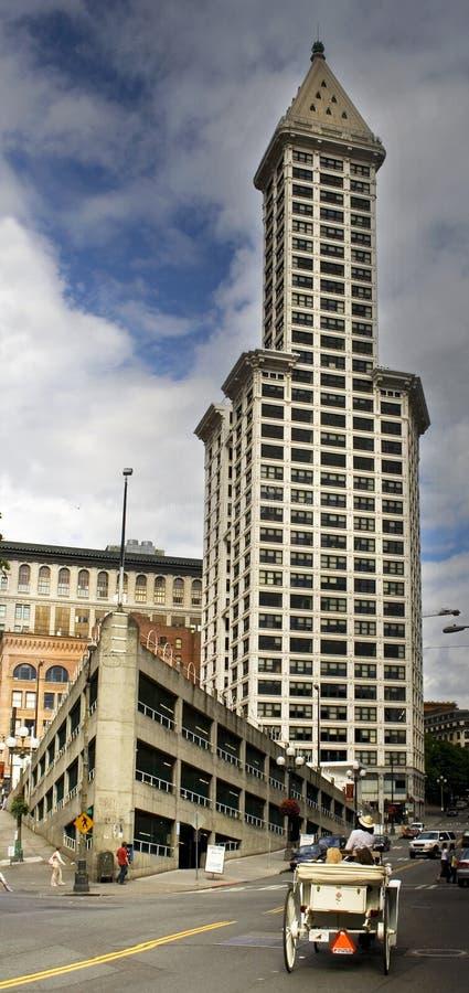башня пионерских smiths seattle квадратная стоковая фотография