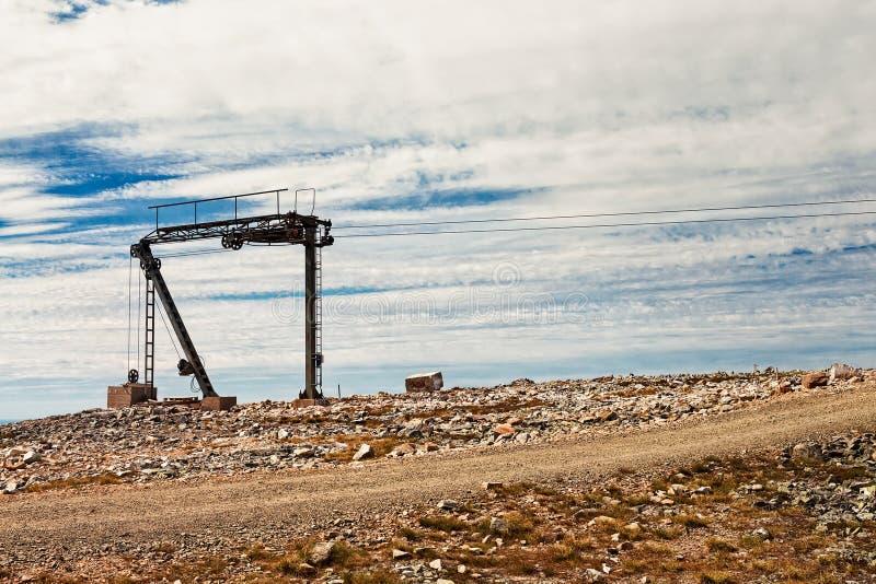 Башня подъема лыжи стоковые фотографии rf