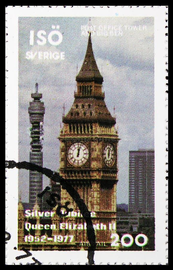 Башня почтового отделения, serie, около 1977 стоковое изображение