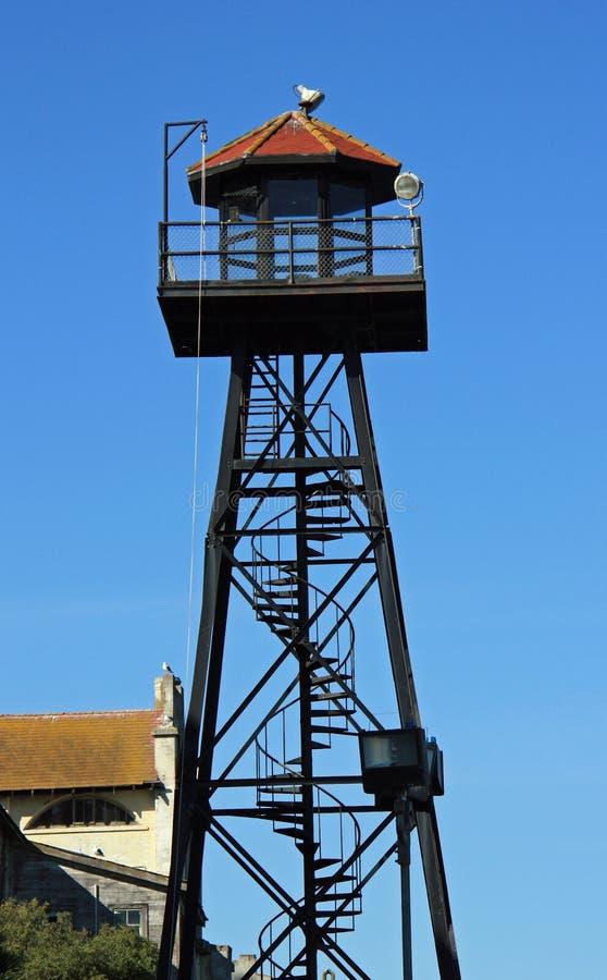 Башня предохранителя на Alcatraz стоковое фото rf