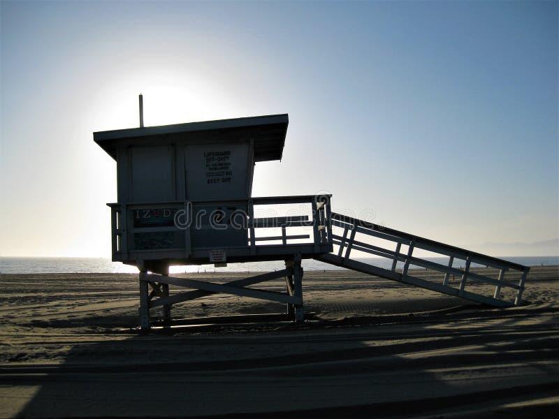 Башня предохранителя жизни Санта-Моника стоковые изображения