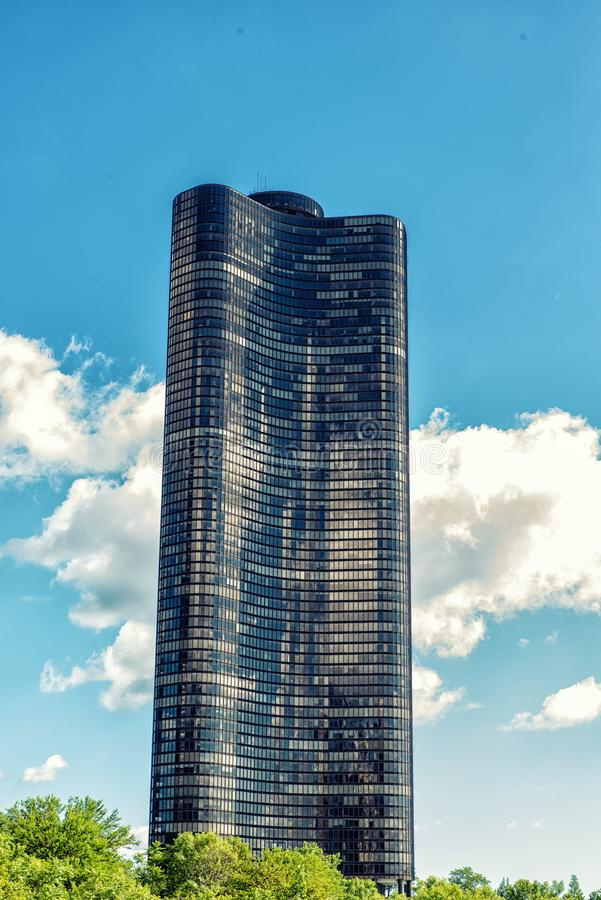 Башня пункта Чикаго, озера стоковые фото
