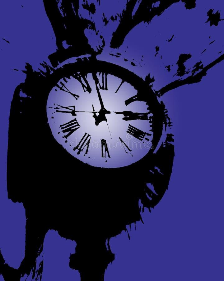 башня пурпура часов иллюстрация вектора