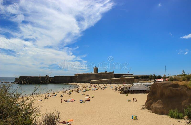 Башня пляжа стоковое фото rf