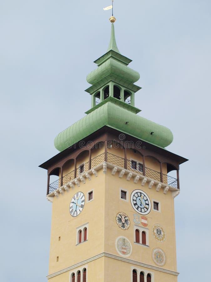Башня ратуши, город Retz стоковые изображения